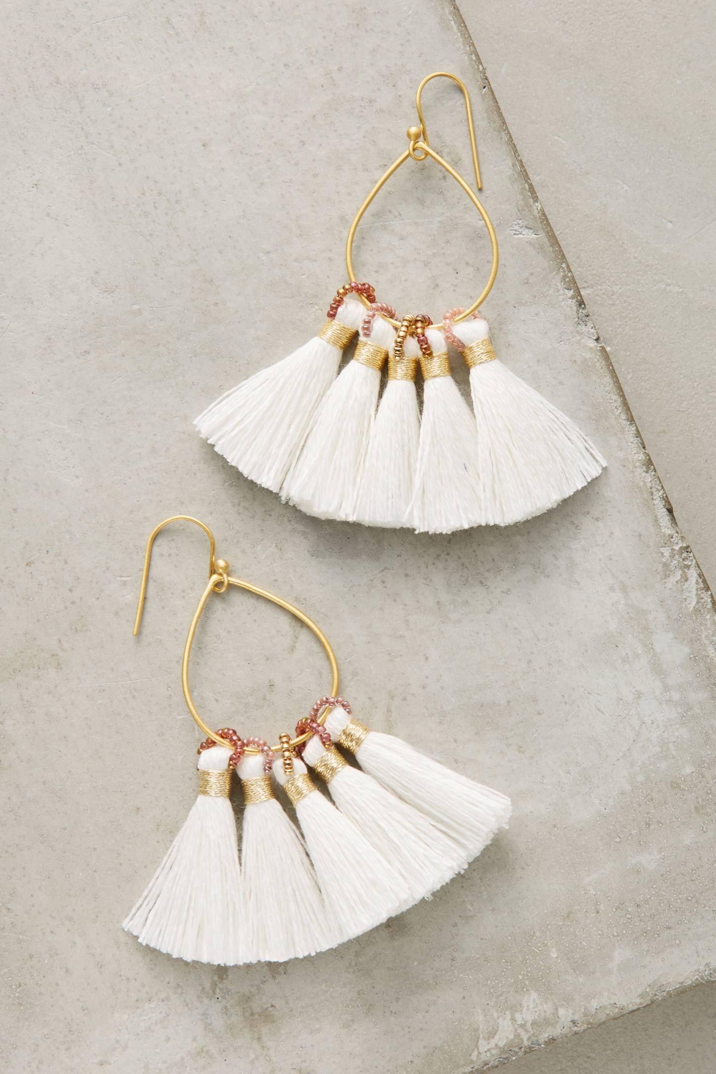 jolie tassel earrings | tassel earrings, anthropologie and tassels