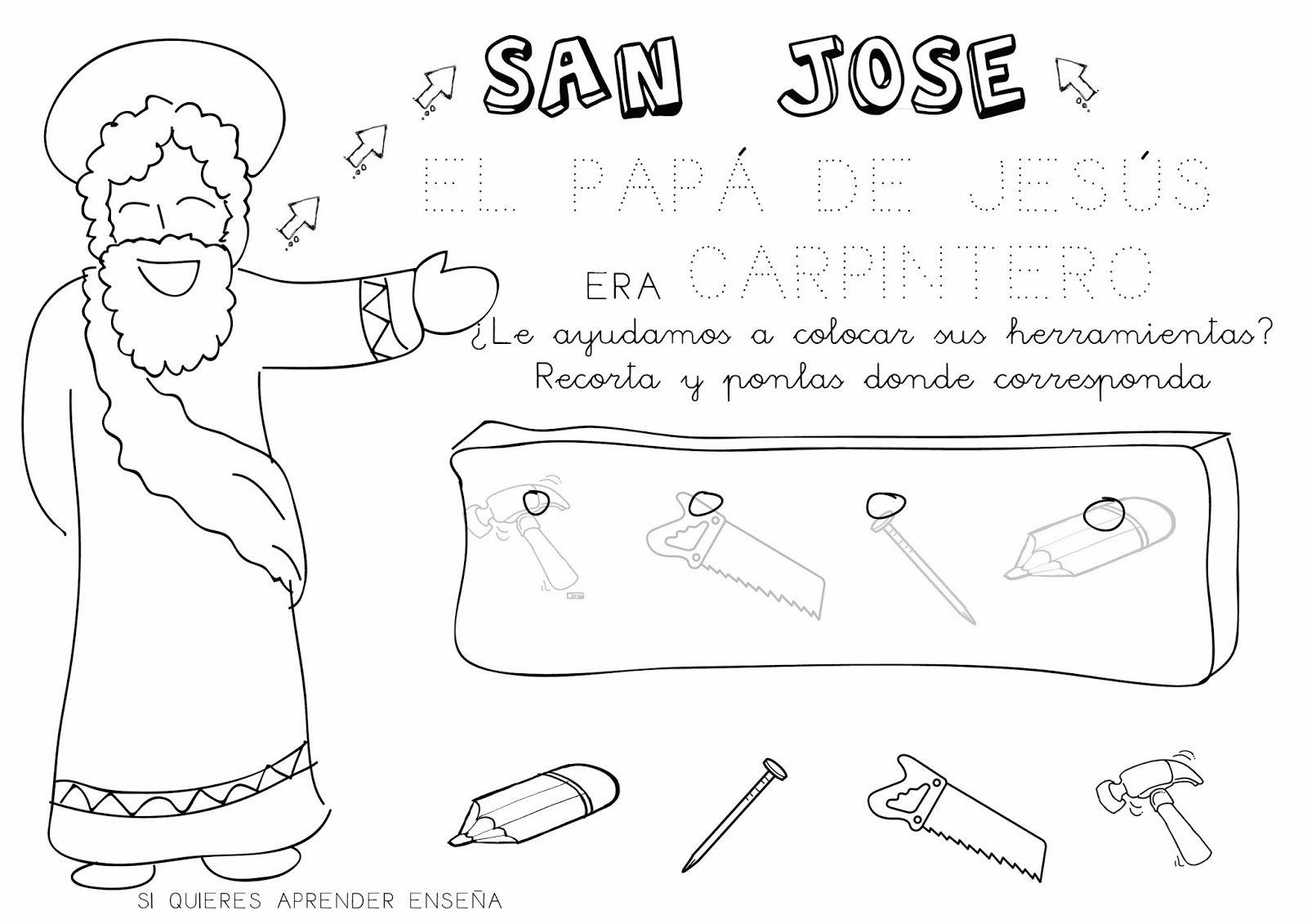 Si quieres aprender, ENSEÑA.: Ficha para SAN JOSÉ | Kinder-Fichas ...