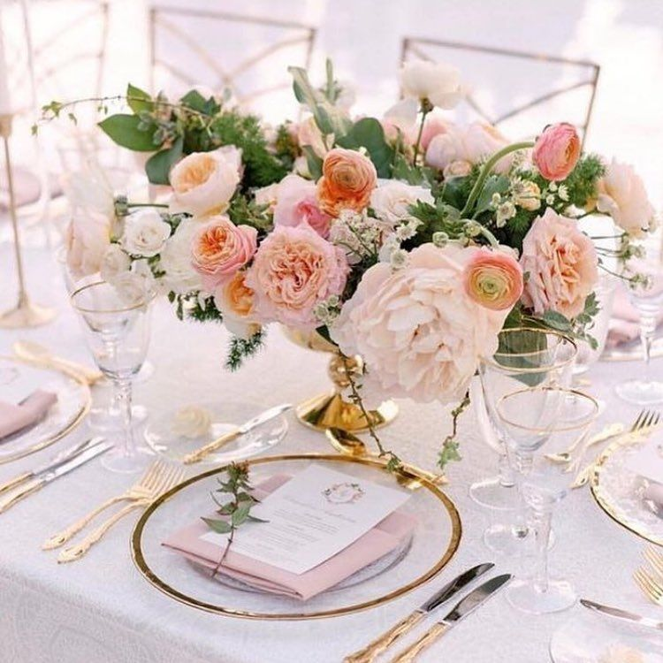 Transcendent Tones Of Blush And Coral Tablescape