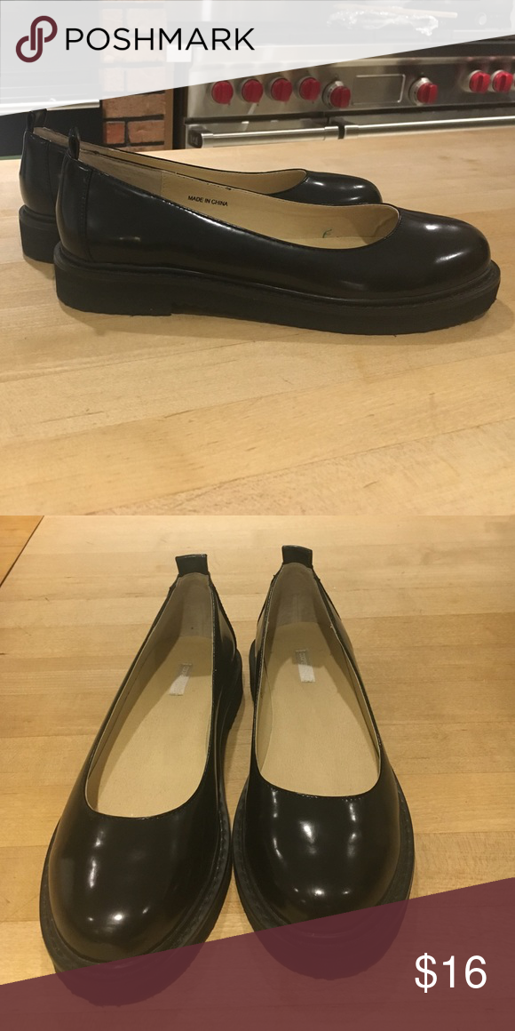 e927f1b947c Cooperative platform stack heel flat size 7.5 Excellent condition  cooperative stack flat shoes size 7.5. Lug sole. From urban outfitters Cooperative  Shoes ...