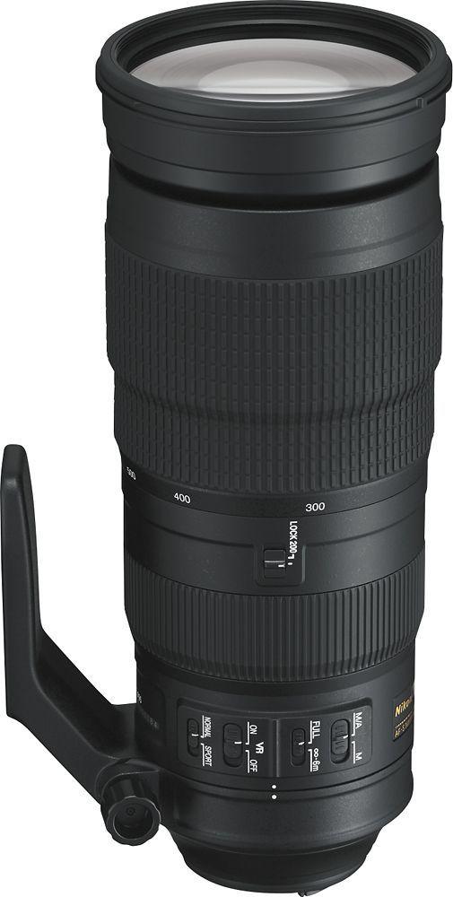 Nikon Af S Nikkor 200 500mm F 5 6e Ed Vr Super Telephoto Zoom Lens Black 20058 Best Buy Telephoto Zoom Lens Zoom Lens Camera Nikon