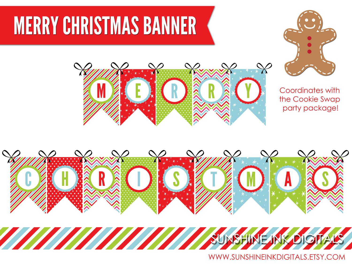 Download Merry Christmas And Happy New Year Banner Printable