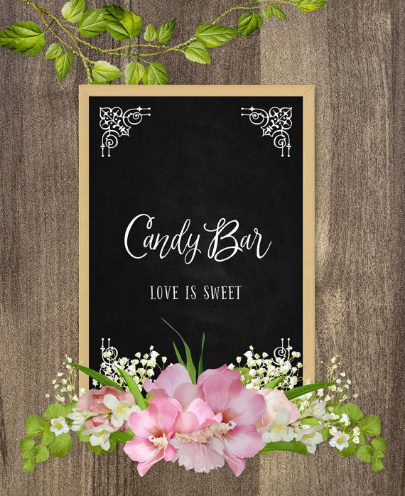 Bar Signs And Decorations Candy Bar Signs Wedding Table Decor Wedding Table Signs