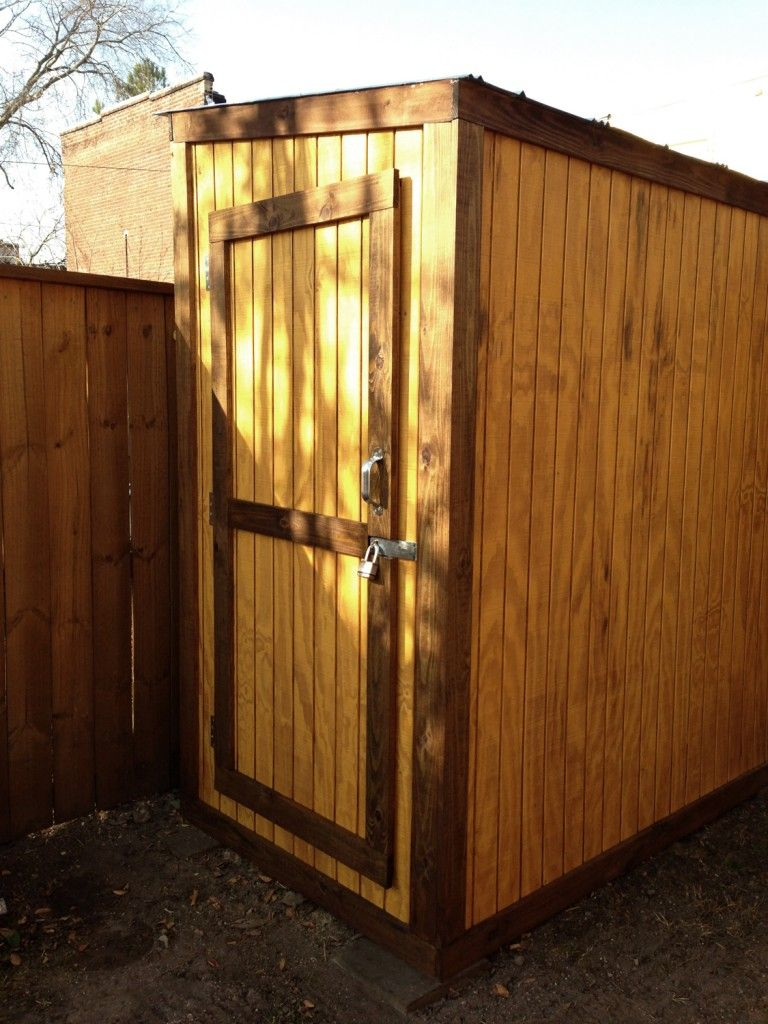 Small shed with two doors for easy access to everything