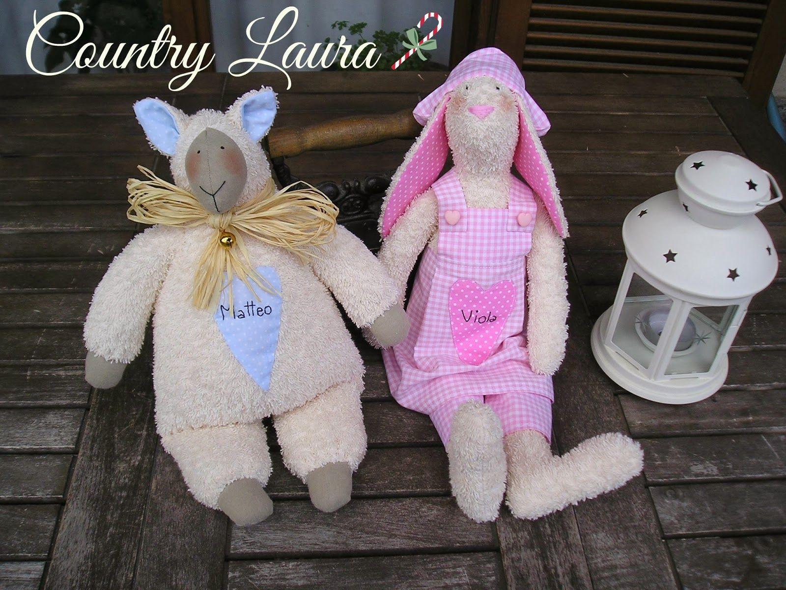 Agnellino e coniglietta Tilda personalizzati