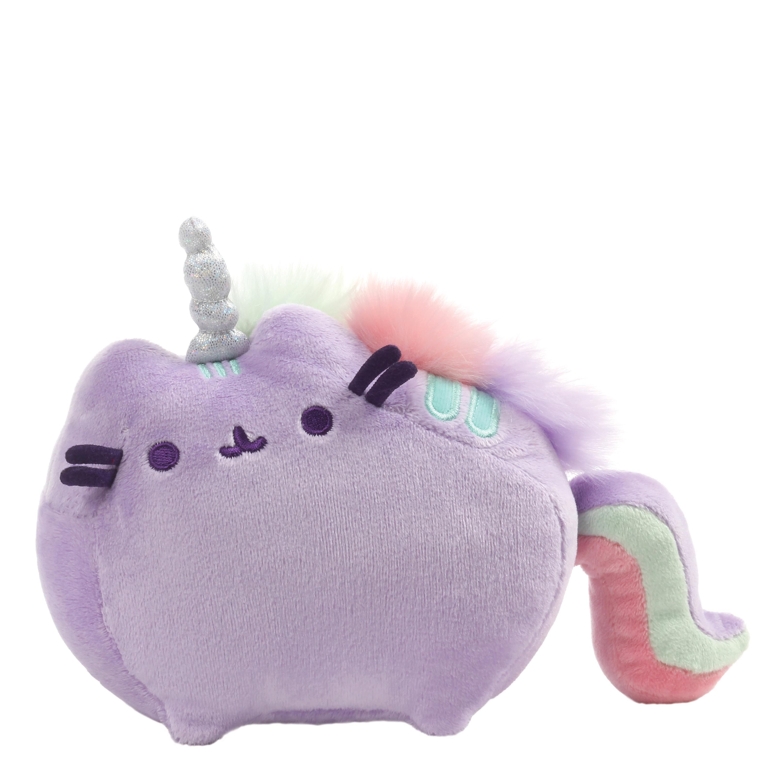 PUSHEENICORN SOUND TOY PURPLE WITH RAINBOW MANE AND TAIL