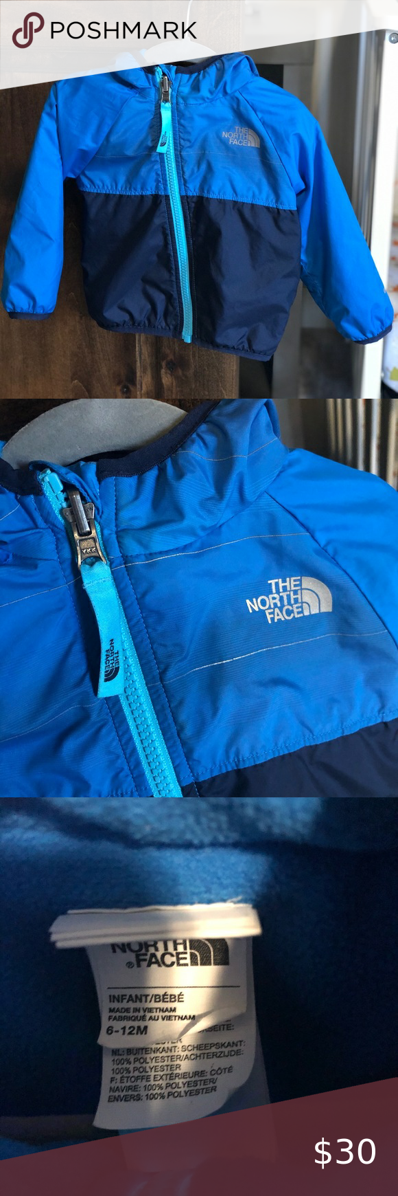 Reversible 6 12 Month Baby Boy North Face Jacket North Face Jacket Baby Month By Month The North Face [ 1740 x 580 Pixel ]
