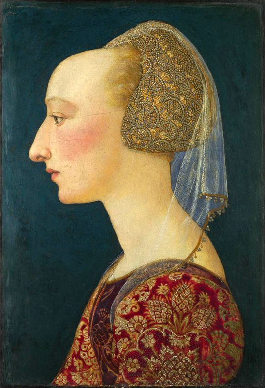 Portrait of a lady in red,1460-70 by an unknown Florentine painter