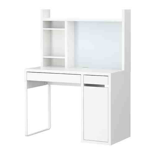 Ikea Micke Workstation Hutch To Go Over Small Desk And Drawers