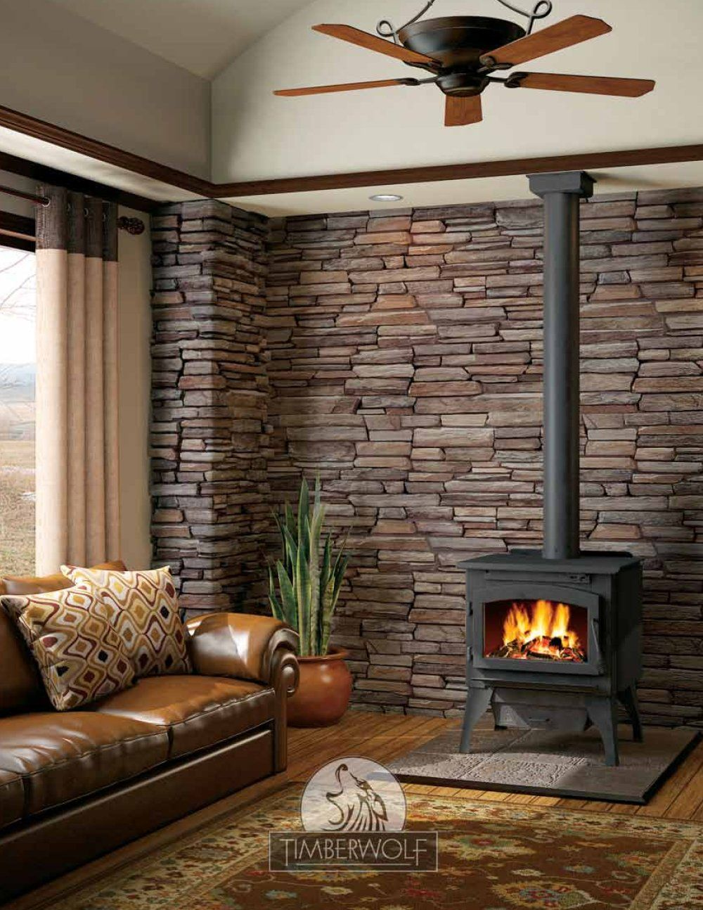 Rustic Room With Fireplace The Couch Needs To Be An
