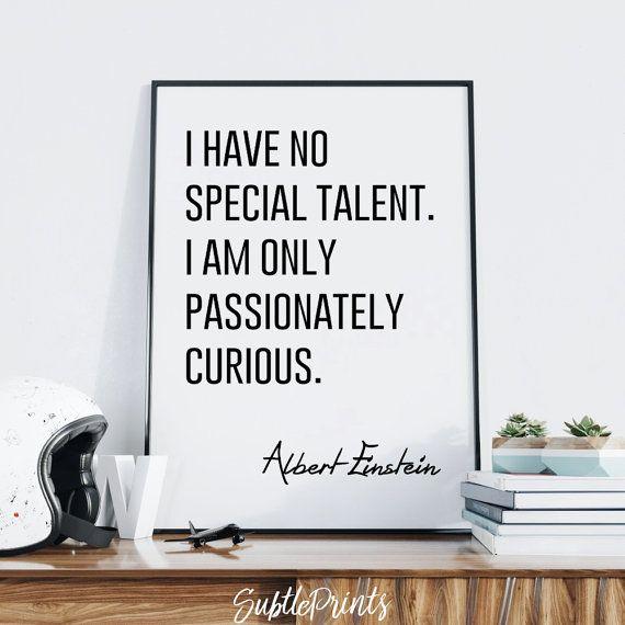 Albert Einstein Quote Print — Printable Wall Art Typography Poster ...