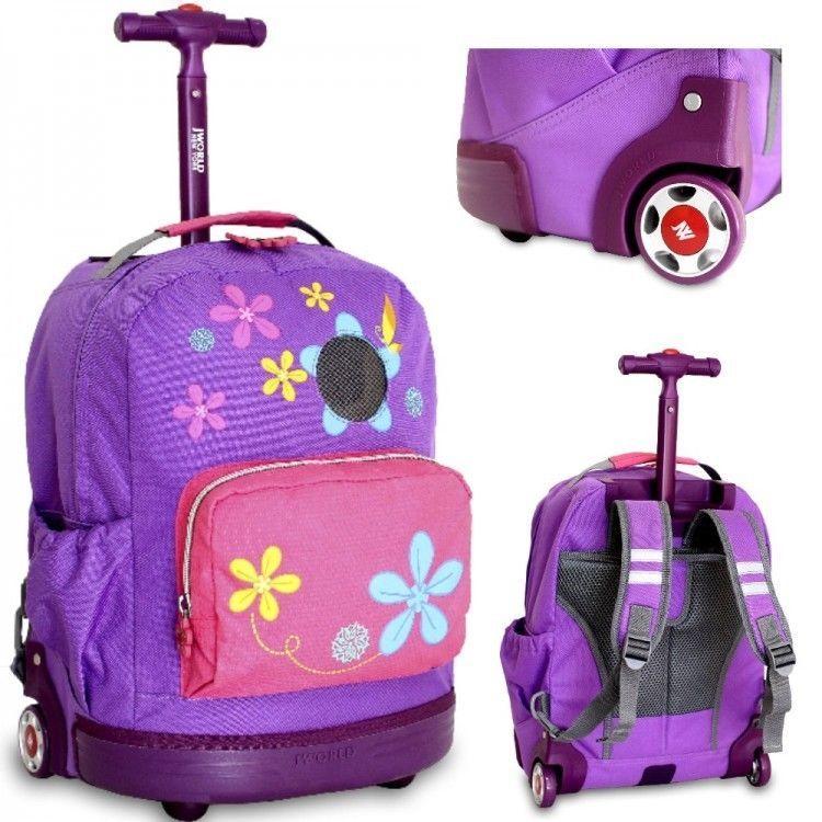 S Rolling School Backpack Wheels Childrens Travel