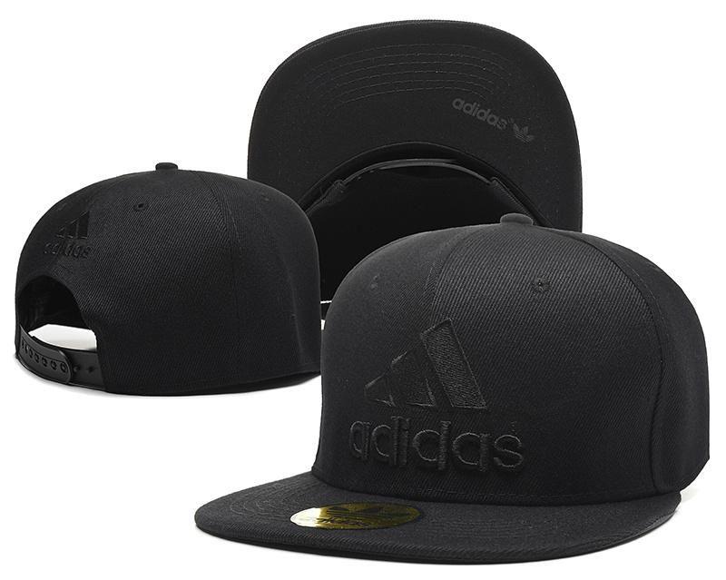 hot sale online 931ae 981b0 Mens Adidas Core Logo Front Classic Sports Black Tonal Retro Baseball  Snapback Cap - All Black - Click Image to Close