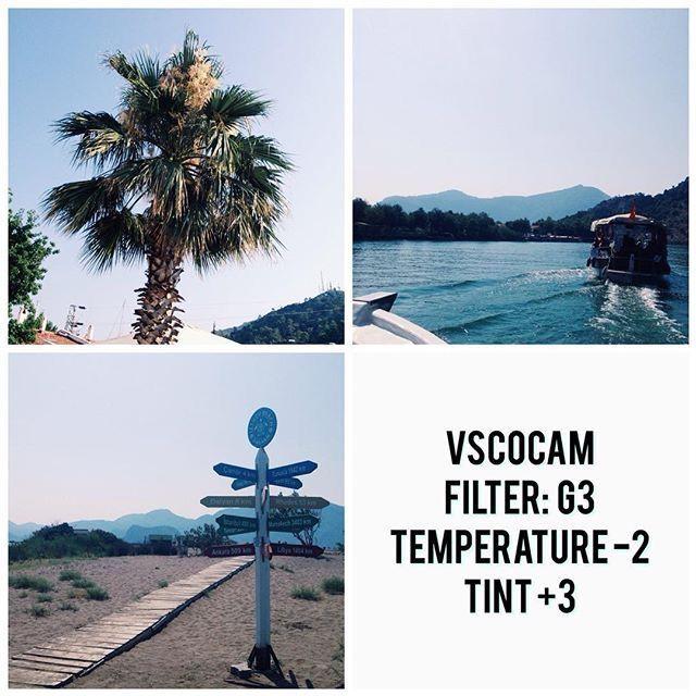 VSCO cam filter settings ideas for tropical/ Blue Instagram