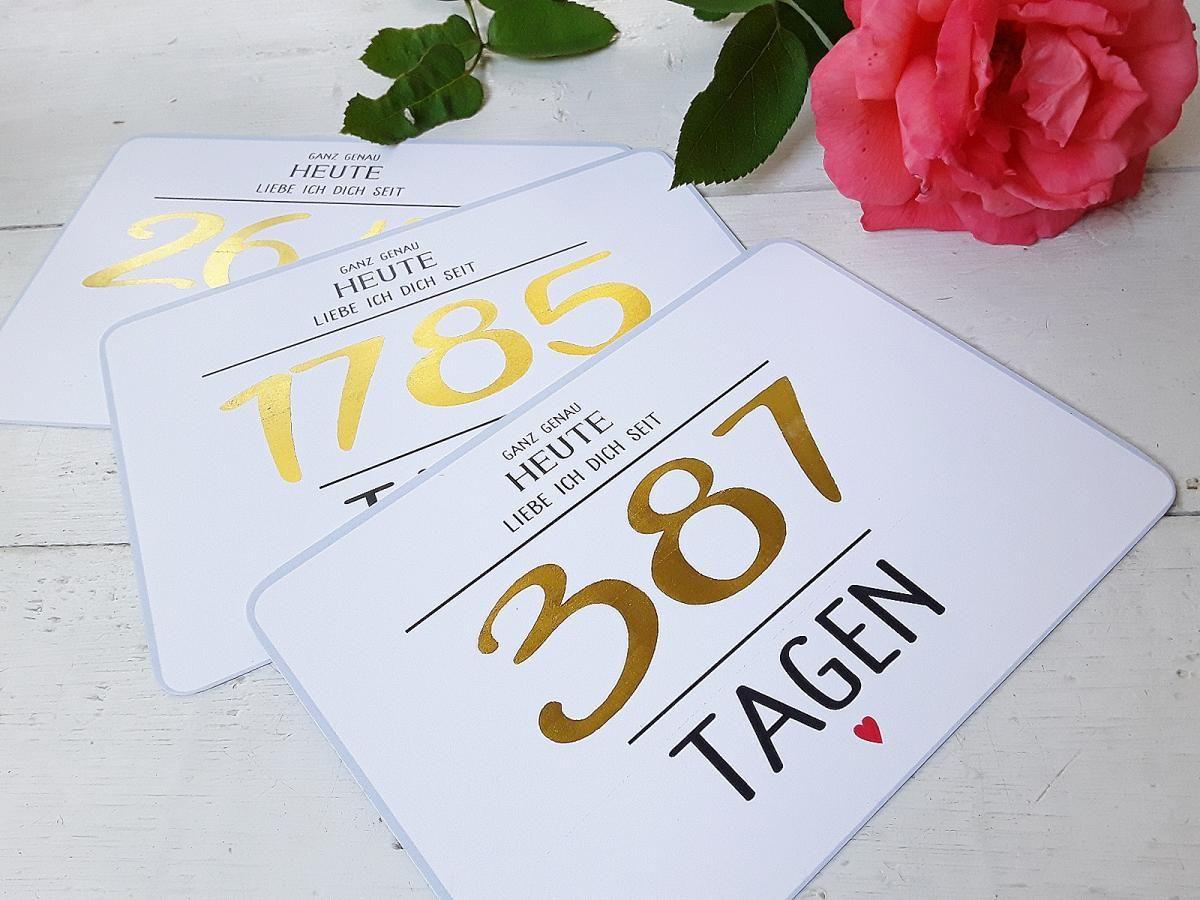 Valentinstag, Karte, Liebe individualisierbar, Gold