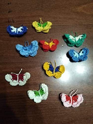 Farfalle Uncinetto Magneti Bomboniera Segna Posto Idee Per La Casa