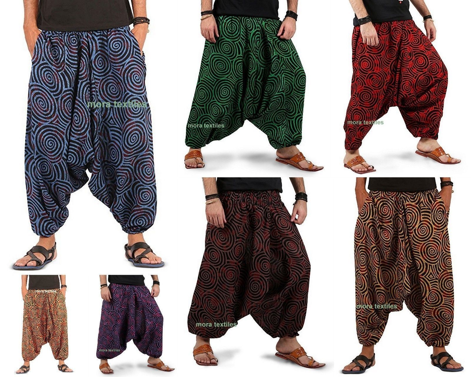 f157f251238ce $11.99 AUD - Indian Baggy Gypsy Harem Pants Yoga Men Women Xmas Gift Swirl  Cotton Trouser