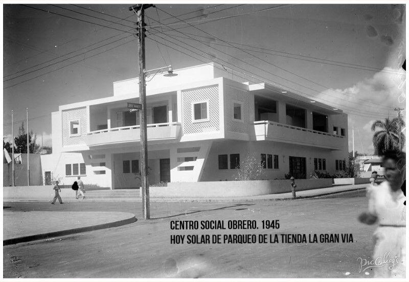 Centro Social Obrero En 1945 Calle Jose Marti Esq Caracas Con