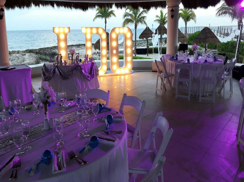 Wedding Reception Setup At Hard Rock Hotel Riviera Maya