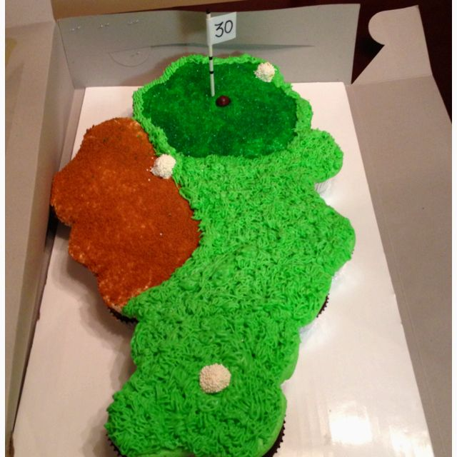 Golf Pull Apart Cupcake Cake Would Be Cute For Father S Day