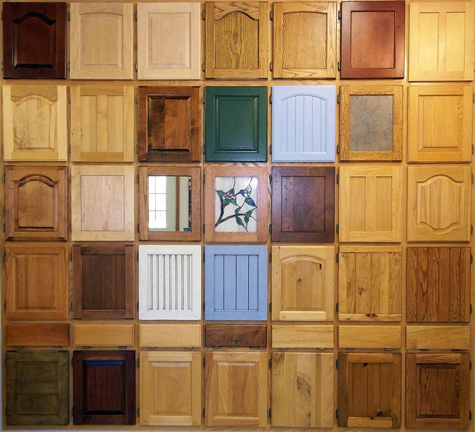 Cabinet door style images wood samples door styles for Custom wood cabinets