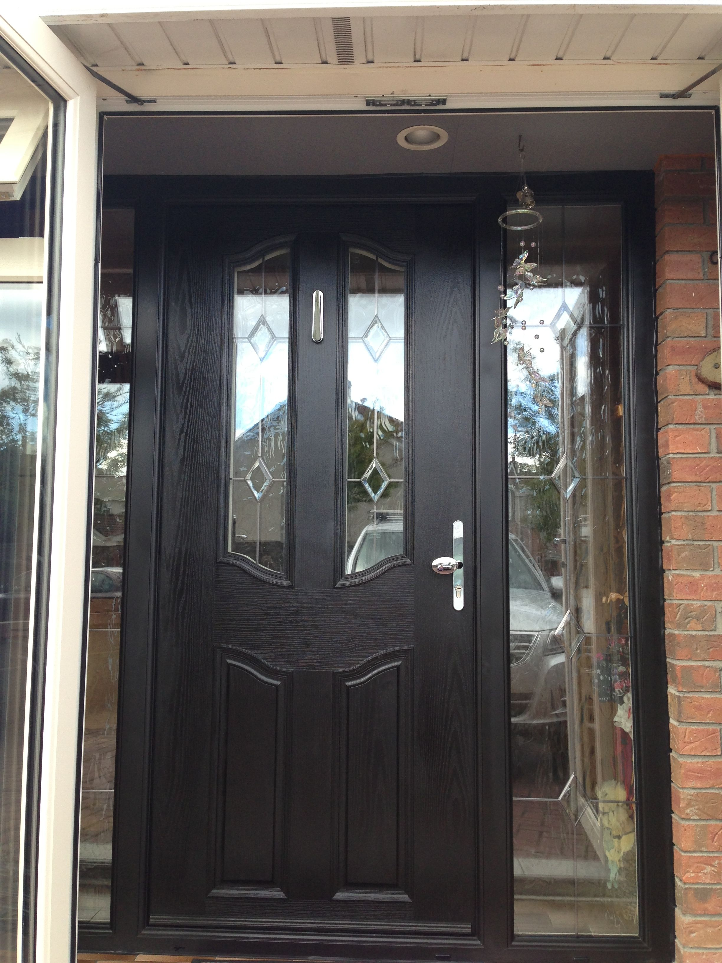 Front door with glass side panels thewrightstuff