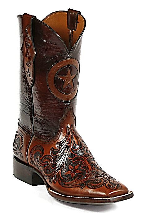 b722ab2bcc4 Hand Tooled With Texas Star Boots - Austin Custom Boots | Boots ...