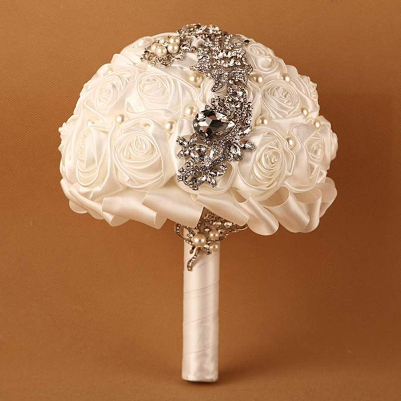 Handmade High Quality Wedding Bouquet Bridal Bride Artificial Silk ...