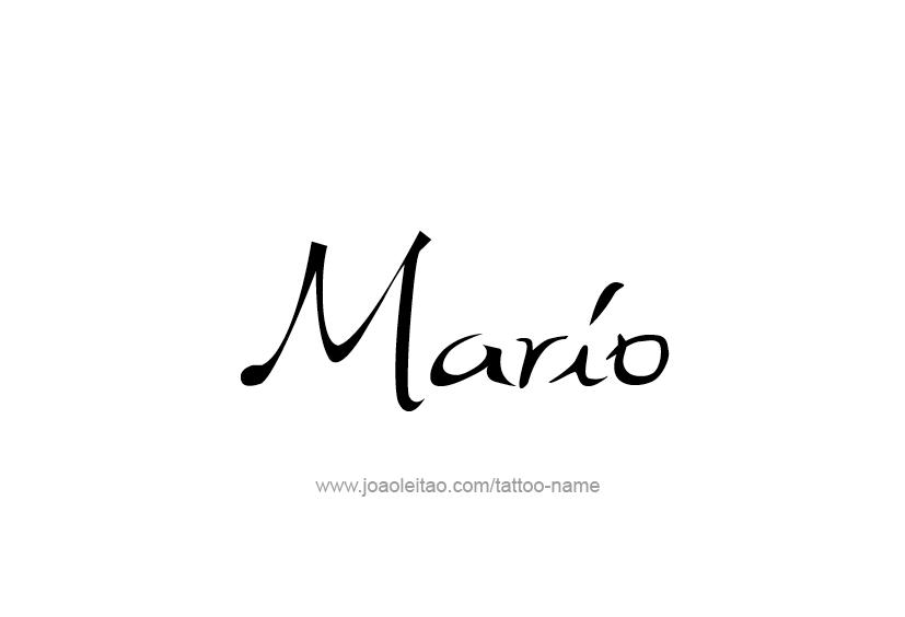 Mario Name Tattoo Designs Name Tattoo Name Tattoos Name Tattoo Designs