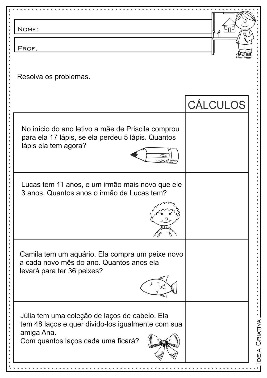 Ensino Fundamental Atividades E Projetos Educacionais Atividades Educativas Matematica Con Atividades De Matematica 3ano Matematica Simples Adicao E Subtracao