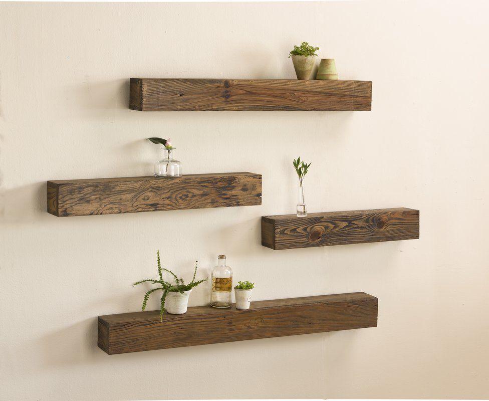 Rustic Wooden Wall Shelf In 2020 Wooden Wall Shelves Rustic