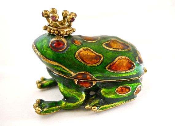 MONET Prince Charming Frog Trinket/Pill Box by RenaissanceFair