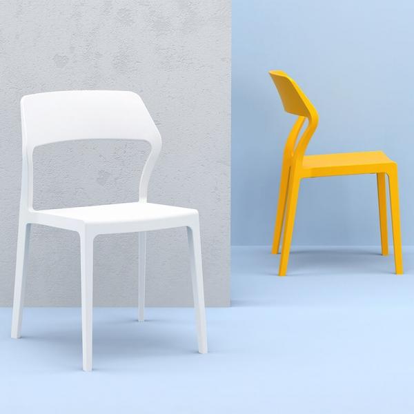 Chaise Empilable Design En Polypropylene Snow Chaise Design Chaise Empilable Meridienne