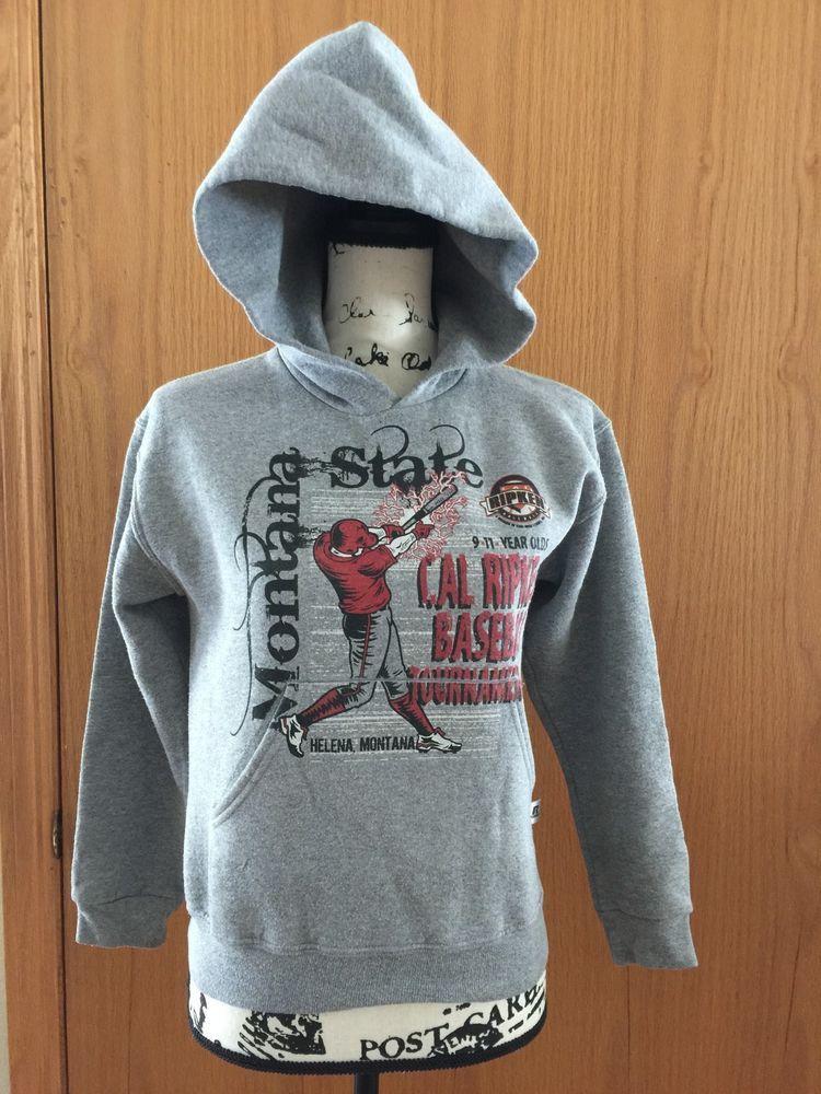 Youth Baseball Cal Ripken Grey Hoody Montana State