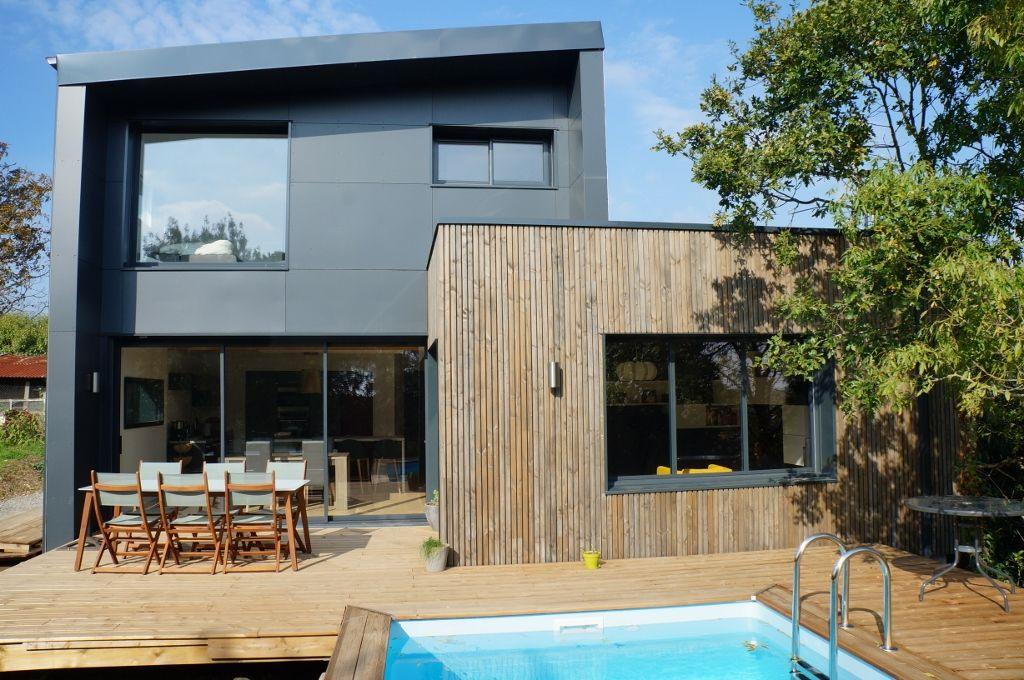 Nouvelle Maison Wooden sur Couëron avec cette maison contemporaine