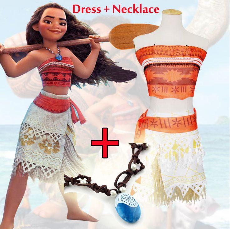 9d70b4996 Women Girl Animie Movie Polynesia Princess Moana Cosplay Costume Dress  Halloween #girlscostumes #costumesforgirls #kidscostumes
