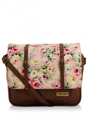 3 Mad Chicks Floral Print Sling Bag - Buy Women's Brown Sling Bags ...