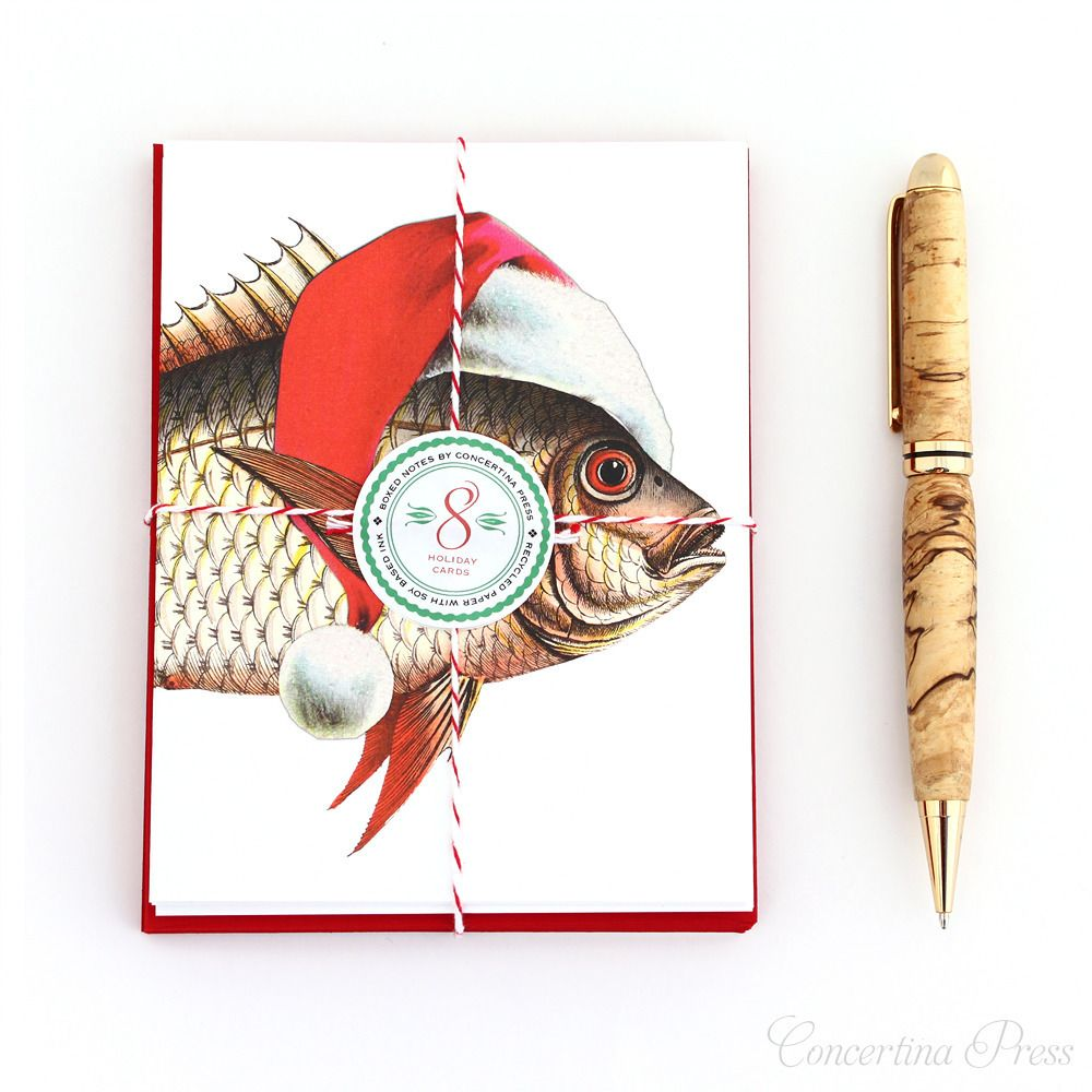 Merry Fishmas Nautical Christmas Cards - Set of 8 funny christmas ...
