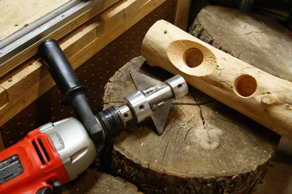 E Z Log Countersink Tool For Log Mortise | Log furniture ...