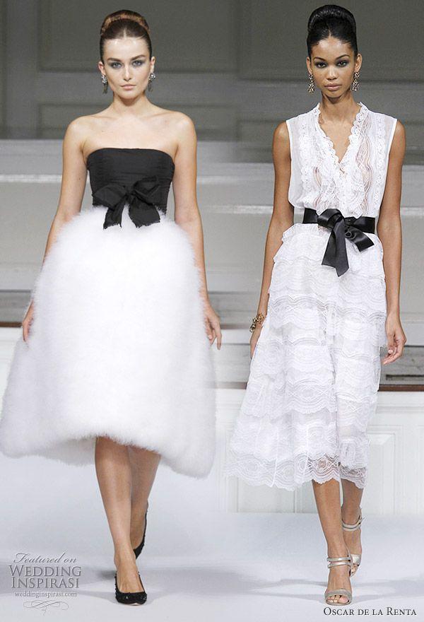 Oscar De La Renta Spring Summer 2011 Ready To Wear White Wedding