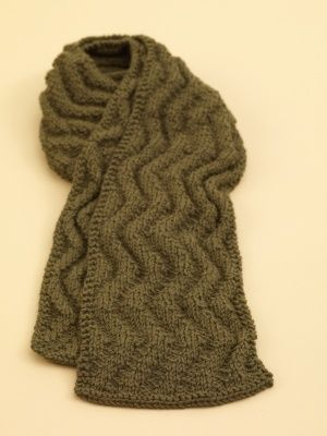 Meandering Rib Scarf | Crochet and Knit | Pinterest