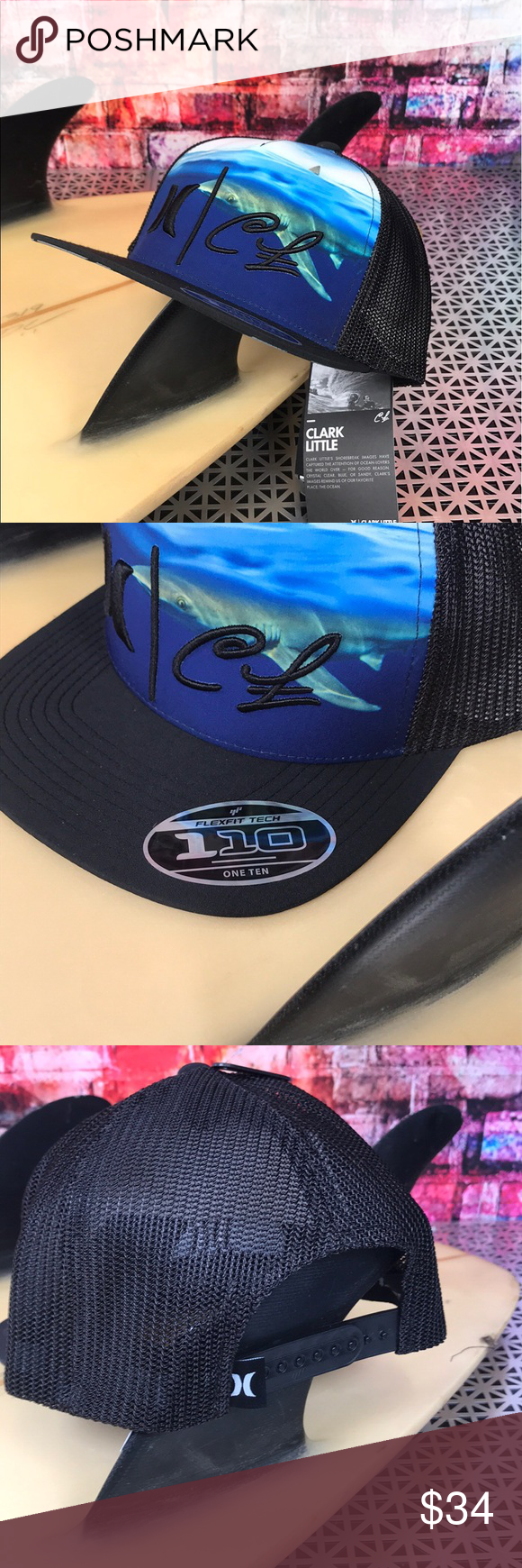 01dc4011293 🦈Hurley Clark Week 🦈 Sick Hurley Clark Little Shark Snap Back 🦈  Featuring a sublimated