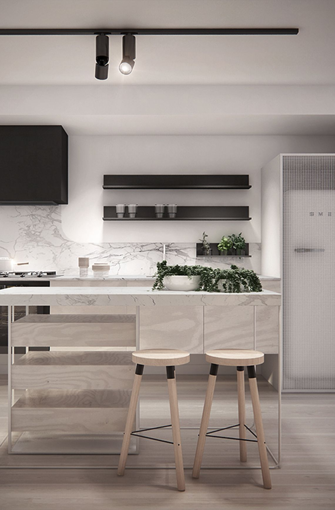Wohndesign in der küche pale wood kitchen stools marble backsplash black cabinet is that