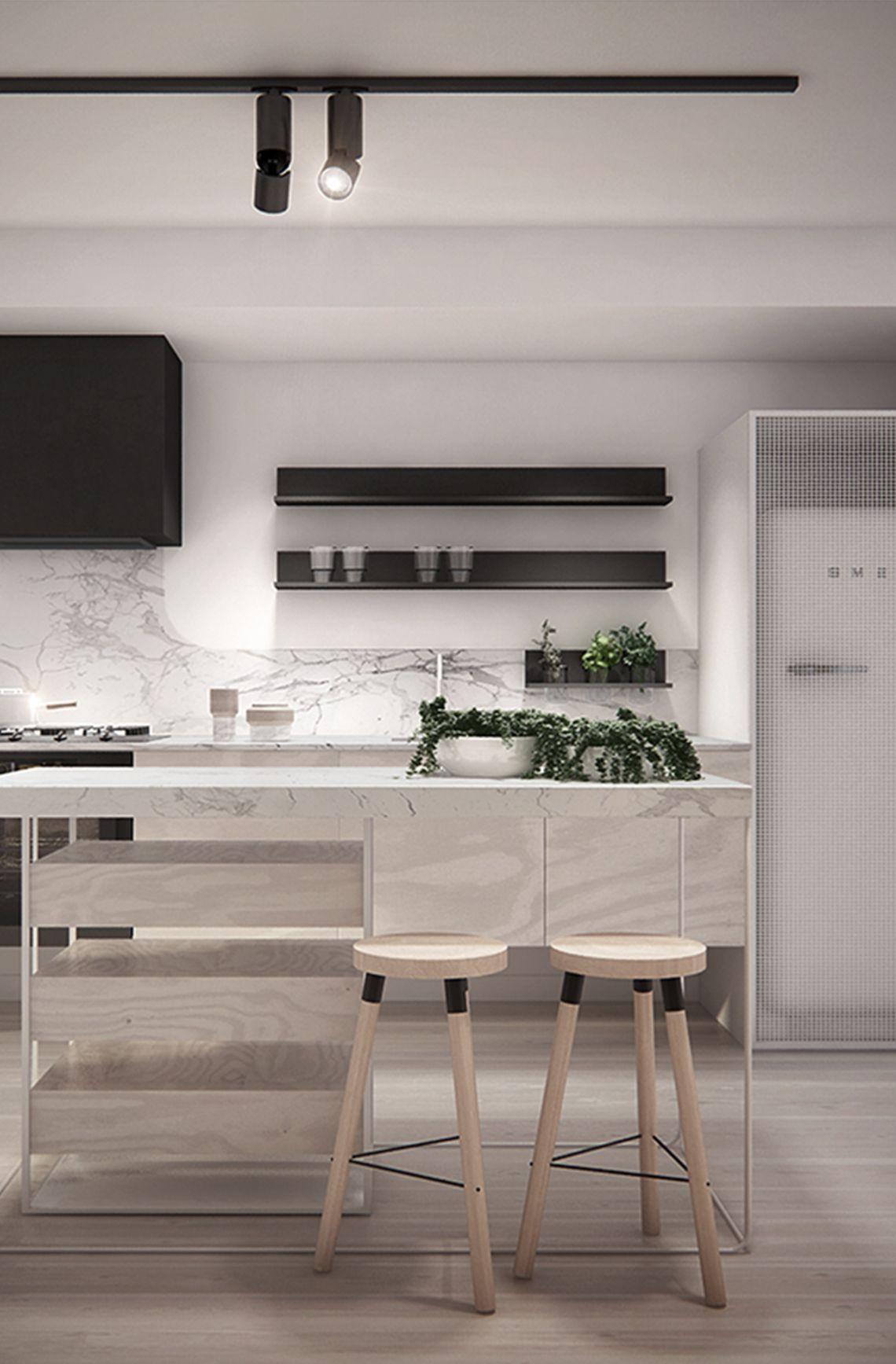 die barhocker oder barstühl. schöner wohnen. gross moderne küchen, Hause ideen