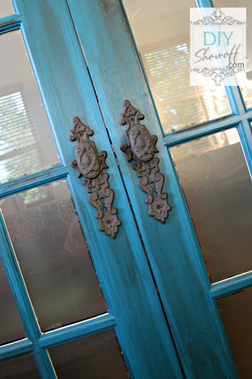 I love this!!!  Benjamin Moore Peacock - French Doors