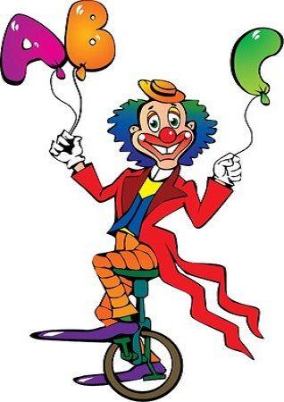 Pin von Ace auf LETTER A Clowns, Karneval, Buchstaben