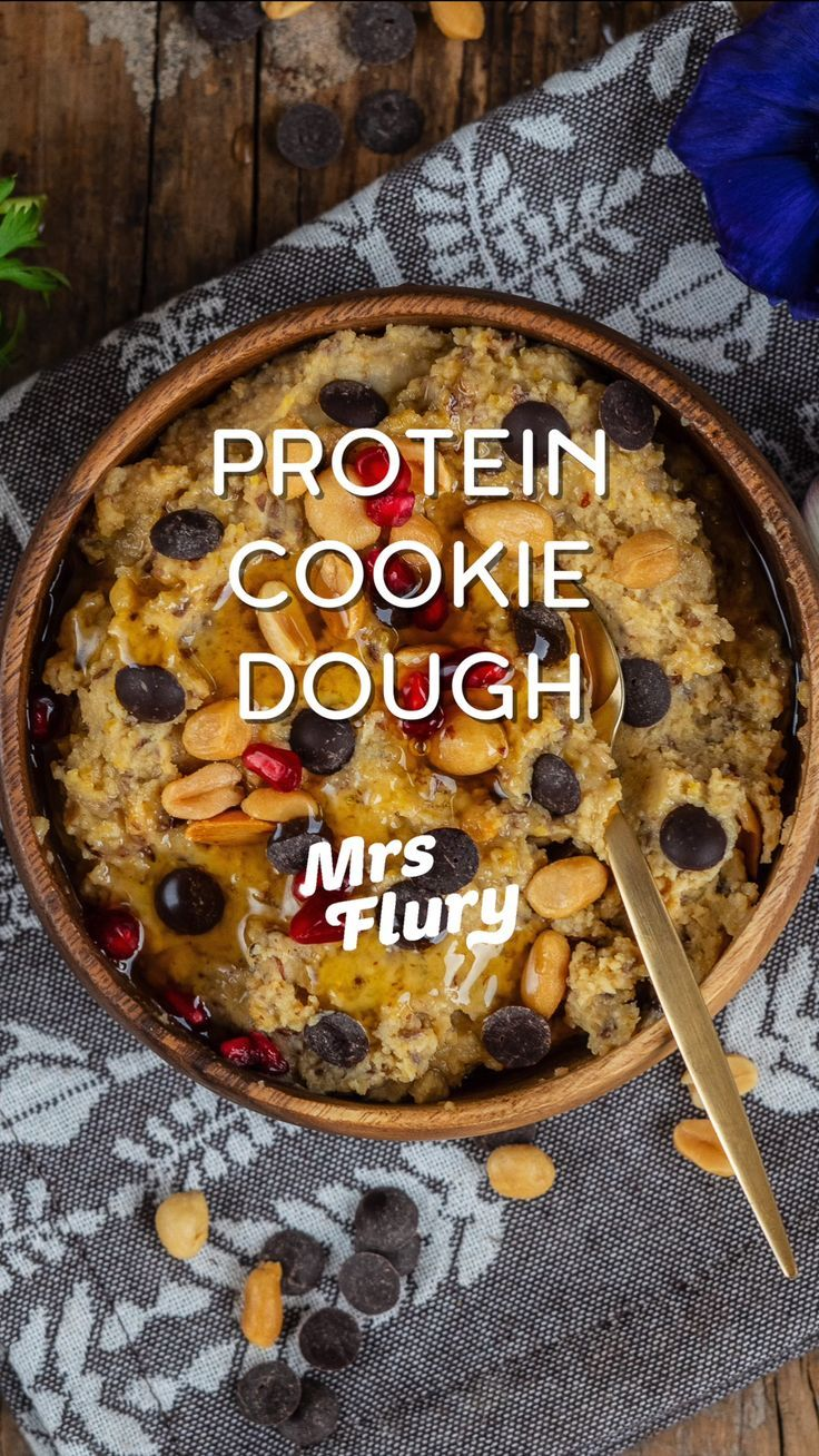 Photo of Protein Cookie Dough Balls with 4 Ingredients – Mrs Flury – Healthy …