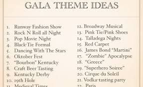 image result for gala themes ideas for fundraisers auction themes