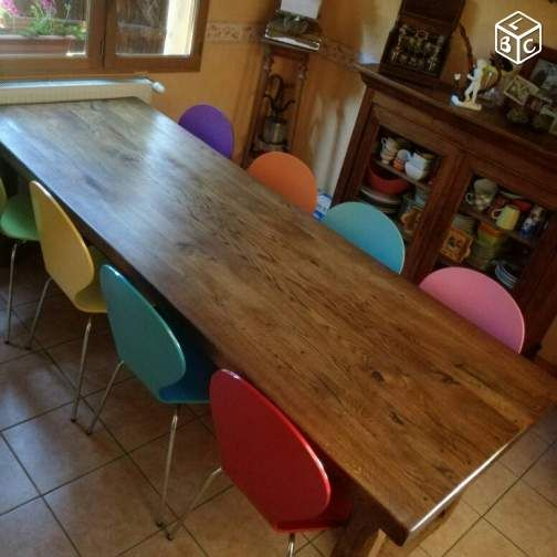 Table De Ferme Massive En Chene Idee De Decoration Table De