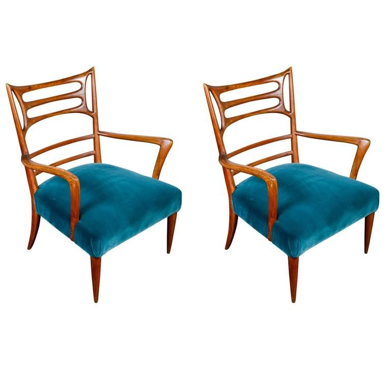 pair of anonymous vintage french armchairs ca 1950 s new velvet